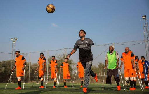 Levine Gaza amputee team 34